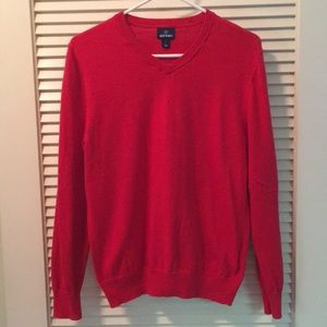 Old Navy Small Red Men's V-Neck Sweater
